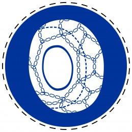 Panneau Autocollant D'Obligation - Chaînes Obligatoires