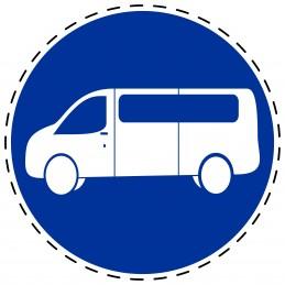 Panneau Autocollant D'Obligation - Voie de Bus
