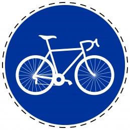 Panneau Autocollant D'Obligation - Piste Cyclable