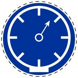 Panneau Autocollant D'Obligation - Pression Réglementation Obligatoire
