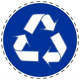 Panneau Autocollant D'Obligation - Recyclé Obligatoire