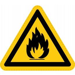 Panneau Autocollant de Danger -  Matières Inflammables