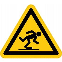 Panneau Autocollant de Danger - Risque de Trébuchement