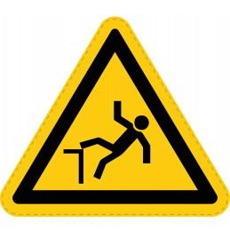 Panneau Autocollant de Danger - Chute Avec Dénivellation