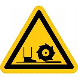 Panneau Autocollant de Danger - Arbres de Fraisage