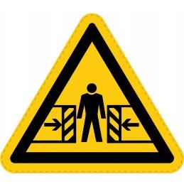 Panneau Autocollant de Danger - Écrasement