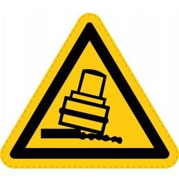 Panneau Autocollant de Danger - Risque de Basculement