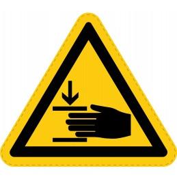 Panneau Autocollant de Danger - Écrasement des Mains