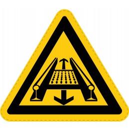 Panneau Autocollant de Danger - Système de Convoyage Dans la Voie
