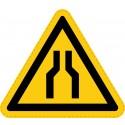Panneau Autocollant de Danger - Goulot d'Étranglement