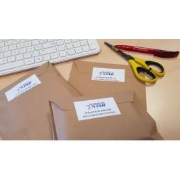 Étiquette d'Adresse Autocollante Personnalisé