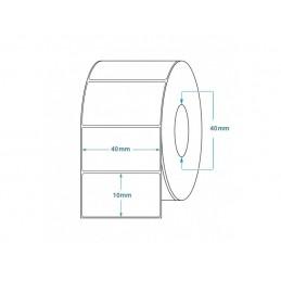 1000 Étiquettes Transfert Thermique Direct 40x10mm