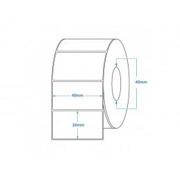 1000 Étiquettes Transfert Thermique Direct 40x24mm