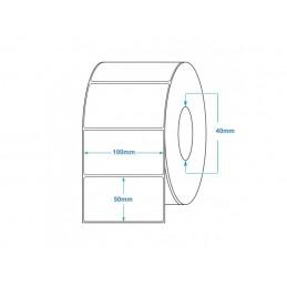 1000 Étiquettes Transfert Thermique Direct 100x50mm