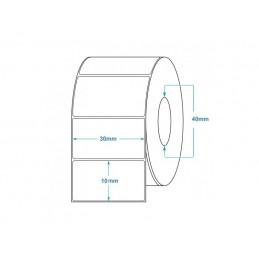 1000 Étiquettes Transfert Thermique Direct 30x10mm