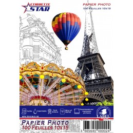 100 Feuilles Papier Photo 10x15 cm (100x150mm) Premium Haute...
