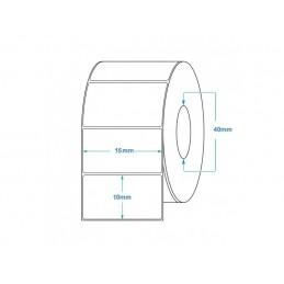 1000 Étiquettes Transfert Thermique Directe 15x10mm