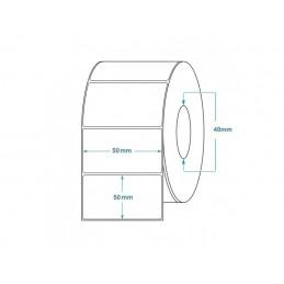 1000 Étiquettes Transfert Thermique Direct 50x50mm
