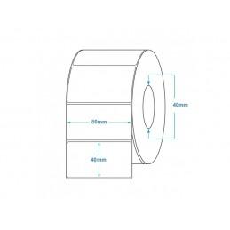 1000 Étiquettes Transfert Thermique Direct 80x40mm