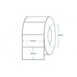 1000 Étiquettes Transfert Thermique Direct 70x50mm