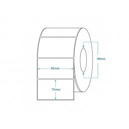 1000 Étiquettes Transfert Thermique Direct 90x70mm