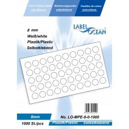 Pastilles Adhésives de Marquage Ronde Diamètre 8 mm Plastique...