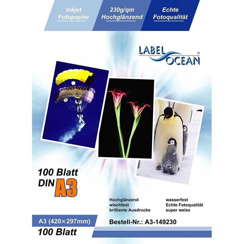 100 feuilles papier photo a3 premium haute brillance 230g. Black Bedroom Furniture Sets. Home Design Ideas