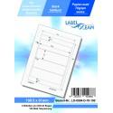 100 Feuille A4 Etiquettes Adhésives Autocollantes 199.5x61mm papier...